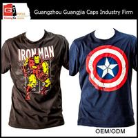 Guangjia Factory Manufacturer Custom High Quality Superhero T Shirt And Shirts For Wholesale