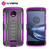 Newest robot case future armor impact case belt clip holster kickstand combo case for MOTO Z DROID