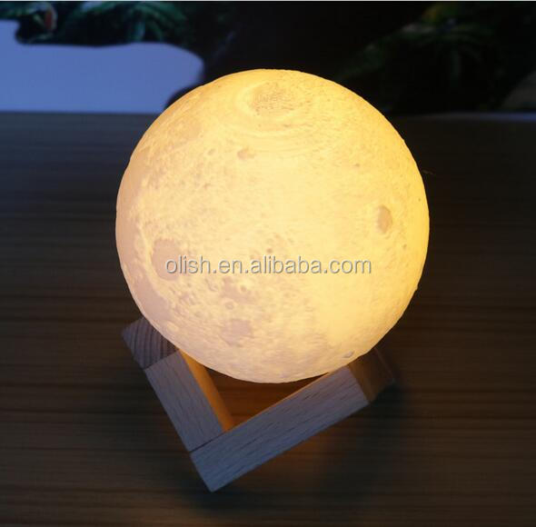Romantic 3D Printing Moon Lamp