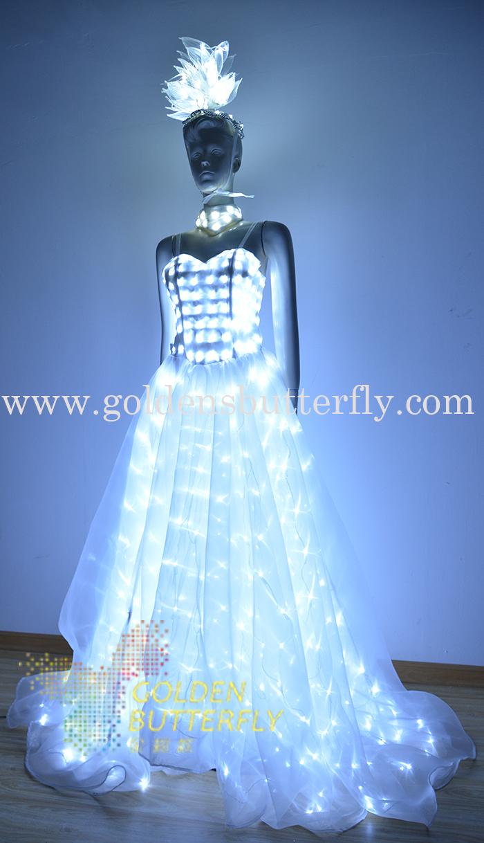 Aliexpress Com Buy Led Wedding Dress Luminous Suits