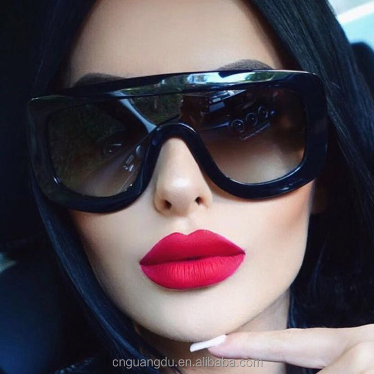New Fashion Mujeres Sunglasses Women Brand Designer Vintage Sun Glasses Big Frame Style Eyewear <strong>Custom</strong> logo Female <strong>Shades</strong>