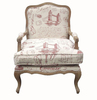 French provincial wooden Classic Antiqued accent chair