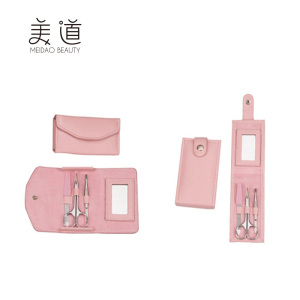 New Professional Pink Bag Girls Nail Perfect Manicure Kit