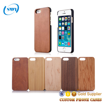 Nature wood mobile phone cover blank wood case for iphone 6 7 /7plus