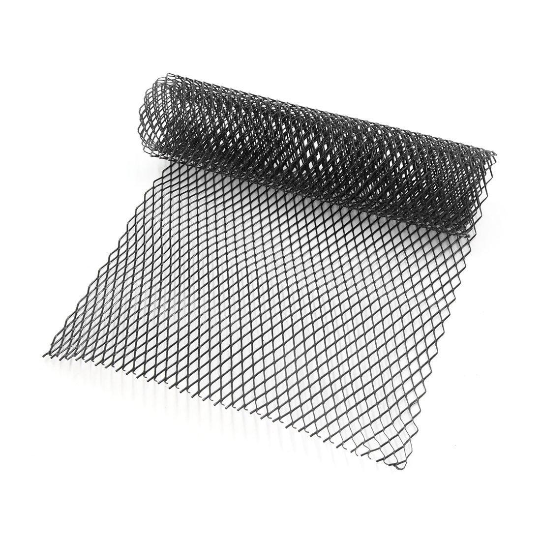 Lanlan 8x16mm Car Grill Grille Vent Mesh Aluminum Alloy Front Bumper Rhombic Grill Mesh Sheet Silver