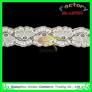 Factory offer high quality lace material spandex elastic lace trim to export