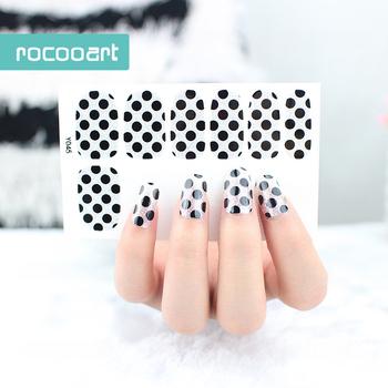 Y5045dongguan Silver Glitter Black Dots Nail Sticker Fashion Nail