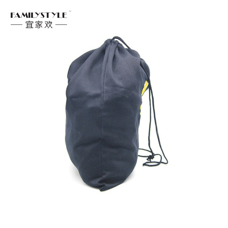 Excellent material poly twill cheap large drawstring shoe packaging bag