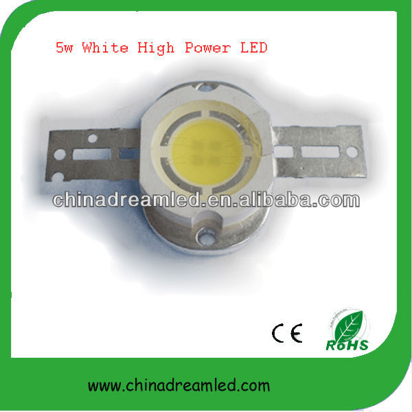 5 W Cool white high power LED met Bridgelux 45mil chip