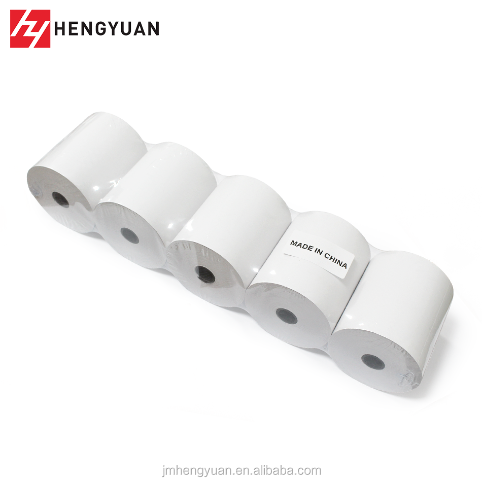 2018 Bank POS Machine Printer Paper Back Printing Thermal Roll 5 Rolls Per Shrink Wrap Packing