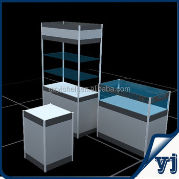 Clear Glass Display Cabinet With Adjustable Shelves/spectacles Glasses  Display Stand/ Boutique Glass Shelf