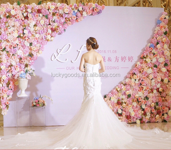 Lfb562 Champagne Pink 12m Trangile Flower Background Wedding Hall Decoration Buy Flower Background Wedding Hall Decorationwedding Stage Flower