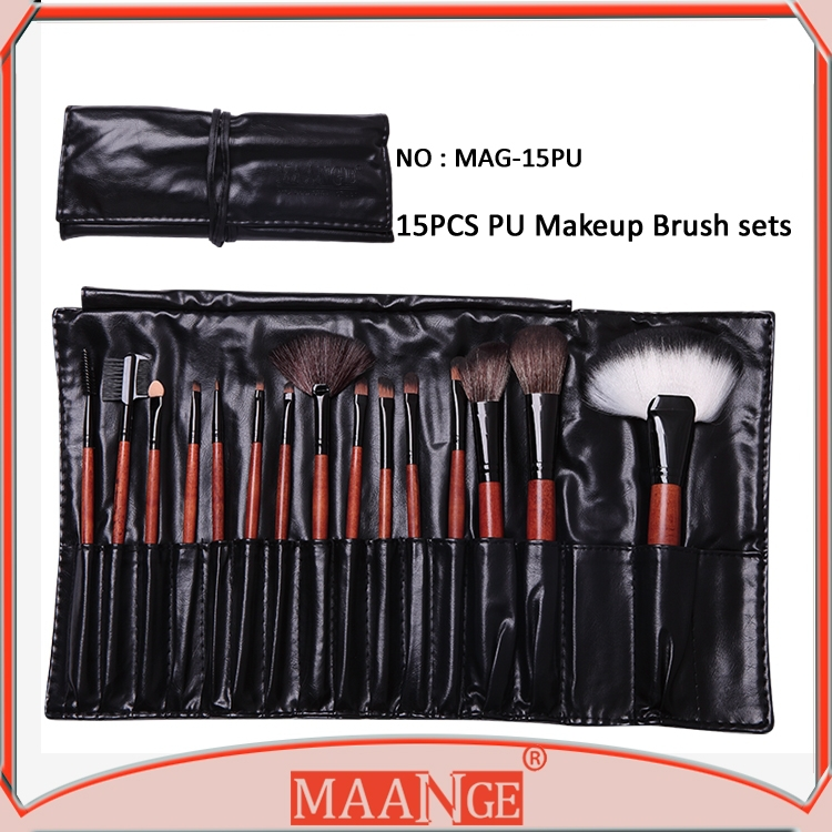 MAANGE Multifuntion Cosmetic Brush 15pcs Makeup Brush Set From Guangzhou Factory