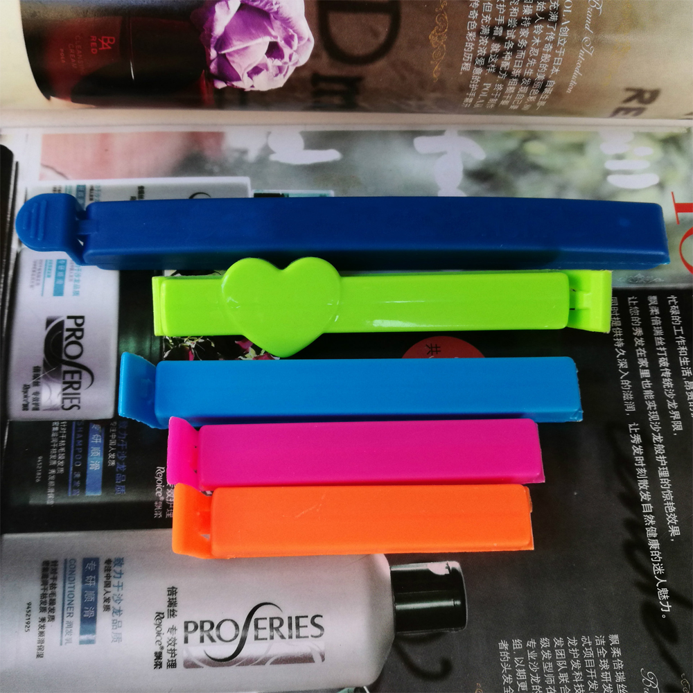 creative custom logo plastic closing clips food coffee tea bag sealing clip,food bag tea bag moisture-proof clip