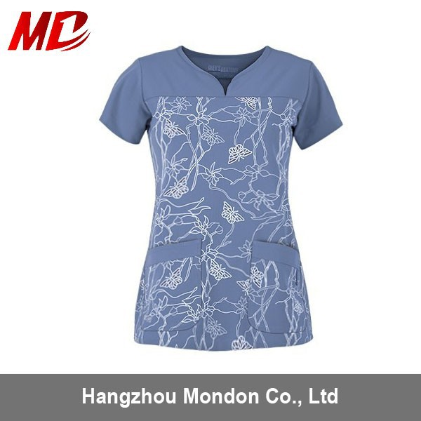 Women Nurse Printed Medical Scrubs uniforms China