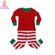 Girls boutique clothing Kid Infant Cute Pyjamas Clothes Sets Christmas pajamas printed fabric red stripes pants children