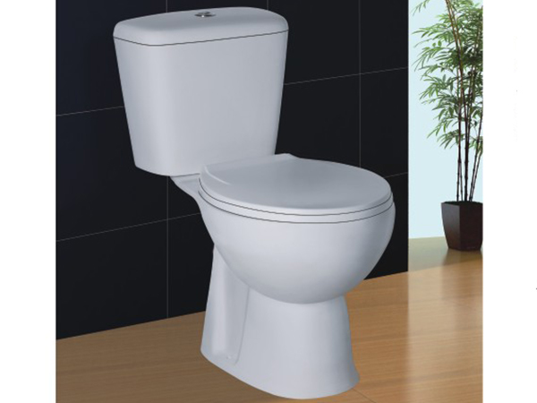 ELONGATED two piece toilet/construction wash down one piece toilet