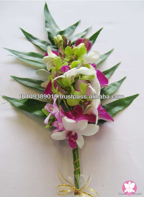 Thailand Beautiful Natural Graduation Orchid Flowers Bouquet - Buy ...