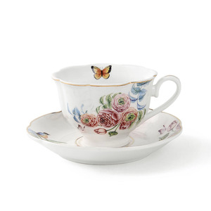 Chinese supplier butterfly ceramic coffee cup fine bone china tea set & coffee cup set porcelain tea cups