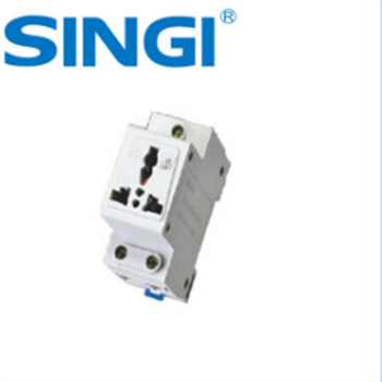 3 pin socket electrical socket din rail mounted universal or multiple power  socket 10/16amp