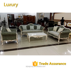 ALIYE Royal European full leather fabric living room sofa set new designs 2016-AMDS-05