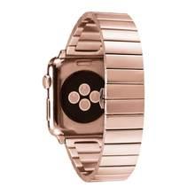 Ремешок для часов, из нержавеющей стали с застежкой-бабочкой для Apple Watch 4 3 2 1 38 мм 42 мм(Китай)