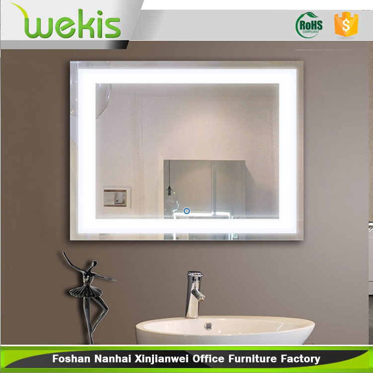 bathroom backlit bathroom mirror 50 mirrored vanity led bath