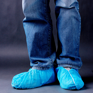 Custom Printed Nonwoven Blue PP shoe cover