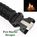 Paracord Rescue Rope Escape Bracelet 4 in 1 Flint Fire Starter Whistle Outdoor Camping Survival Gear