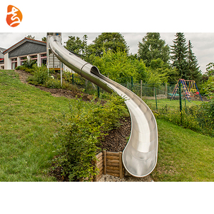 High quality cheap preschool stainless steel playground double slide