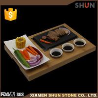 Korea ceramic cookware, Steak Stones Sizzling Steak Set, Resturant Natural reusable stone plate wholesale