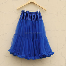 Hot Sale Beautiful Royal Blue Tulle Skirt Women Long Maxi Skirt Wholesale