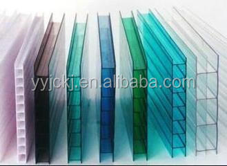 100 %bayer 10 Years Quarteen Colored Polycarbonate Hollow Sheet ...