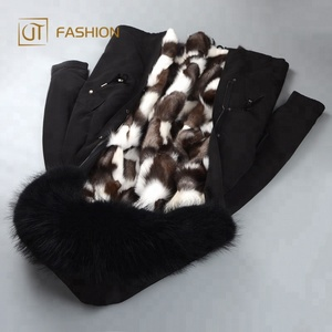 New design hot selling lux cold protect snow heavy thicker parka real fox fur super warm natural fur canada parka