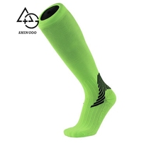 Vintage striped color matching cotton sports men football compression socks