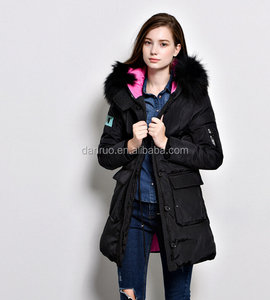 Quilted new style lace trim puffer satin sports jackets