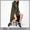 2017 new arrival Chic Factory Price lady Olive Green Double Breasted Wrap Coat