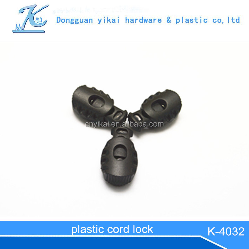 Plastic Toggle Spring Stop Single Hole String Cord Lock/plasticdouble cord lock