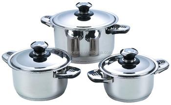 6pcs Stainless Steel Casserole Prestige Kitchen Appliances - Buy ...