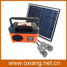 household/outdoor portable dc solar generator powered radio