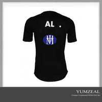latest design extended blank round bottom t shirt