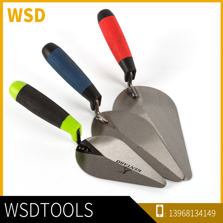 Best Quality Different Colors Stainless Steel Blade Bricklaying Trowel Different Colors Hand Tool