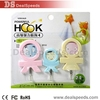 3Pcs/Set Cartoon Hooks A Family of Three Design Powerful Adhesive Hooks, 2kg Load