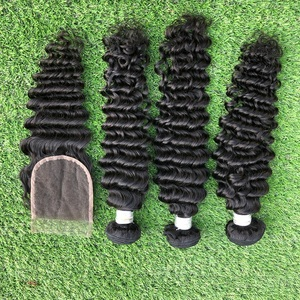 Wholesale crochet dreadlocks afro deep wave Malaysian hair extension best price from Guangzhou Yoody