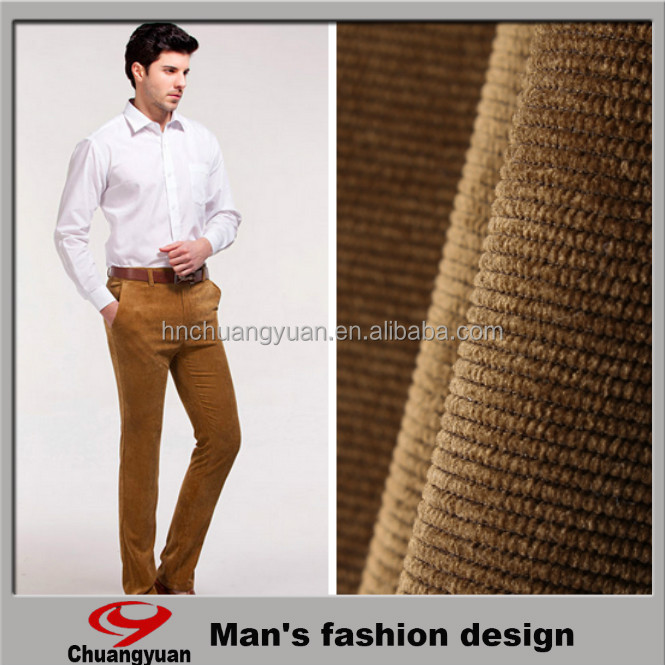100% polyester fabric warp knitting for man dress pants