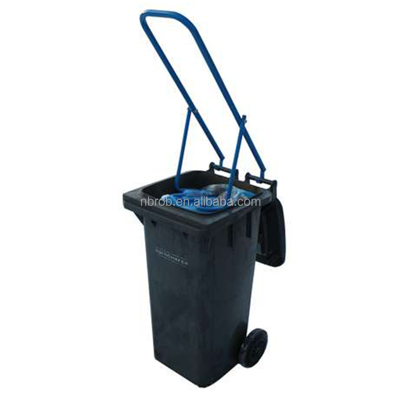 Metal Wheelie bin rubbish garbage compactor
