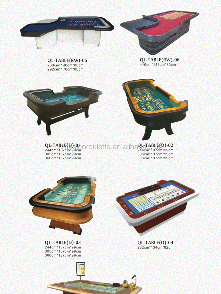Baccarat Blackjack Texas Poker chips Customize Luxury wooden casino roulette wheels game tables MDF legs roulette table