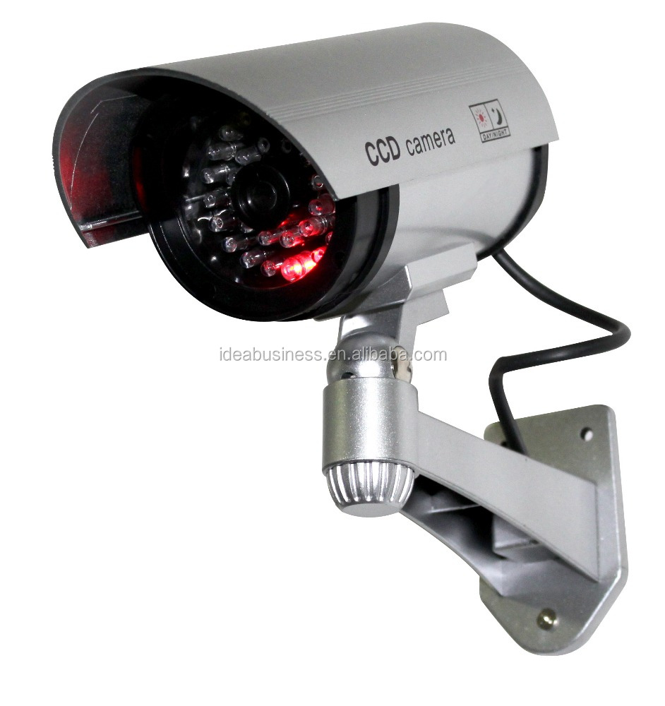 Dummy Camera Outdoor Fake Security Camera Blinking Light W //3 Mounting Screw