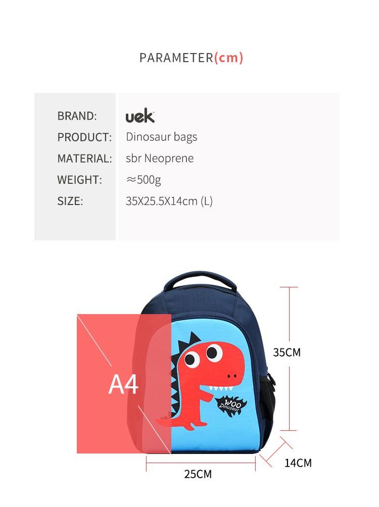 UEK Kids Dinosaur School bag