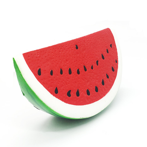 Hot selling soft PU simulation fruits squishies jumpo watermelon slow rising squishy toys